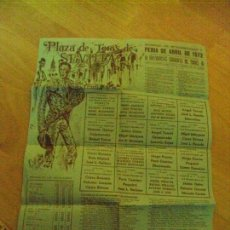Carteles Toros: CARTEL DE TOROS. PLAZA DE SEVILLA. DOMINGO DE RESURECCION Y FERIA DE ABRIL DE 1972.. Lote 87168896