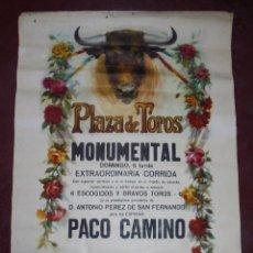 Carteles Toros: CARTEL. PLAZA DE TOROS. MONUMENTAL. EXTRAORDINARIA CORRIDA. 1970. PACO CAMINO, EL CORDOBES.. Lote 87475768