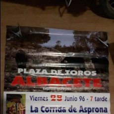 Carteles Toros: CARTEL TOROS CORRIDA ASPRONA 1996. Lote 88130680