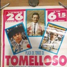 Carteles Toros: CARTEL TOROS TOMELLOSO. Lote 88130936