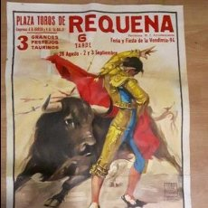 Carteles Toros: CARTEL TOROS REQUENA 1994. Lote 88131004