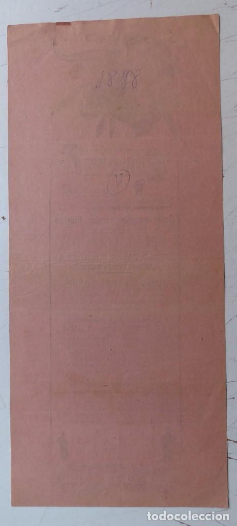 Carteles Toros: Cartel de Toros - PLAZA DE TOROS DE LA ZAIDIA DE VALENCIA - OCTUBRE DE 1898 - Foto 4 - 88148964