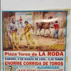 Carteles Toros: CARTEL TOROS LA RODA. Lote 88482084