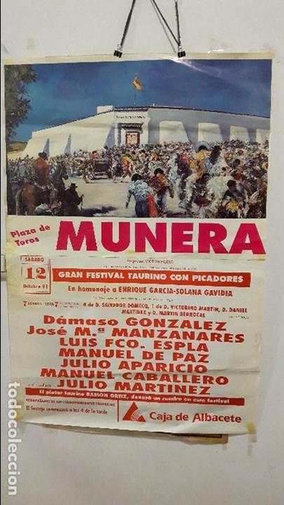 CARTEL TOROS MUNERA ESPLA MANZANARES DAMASO (Coleccionismo - Carteles Gran Formato - Carteles Toros)
