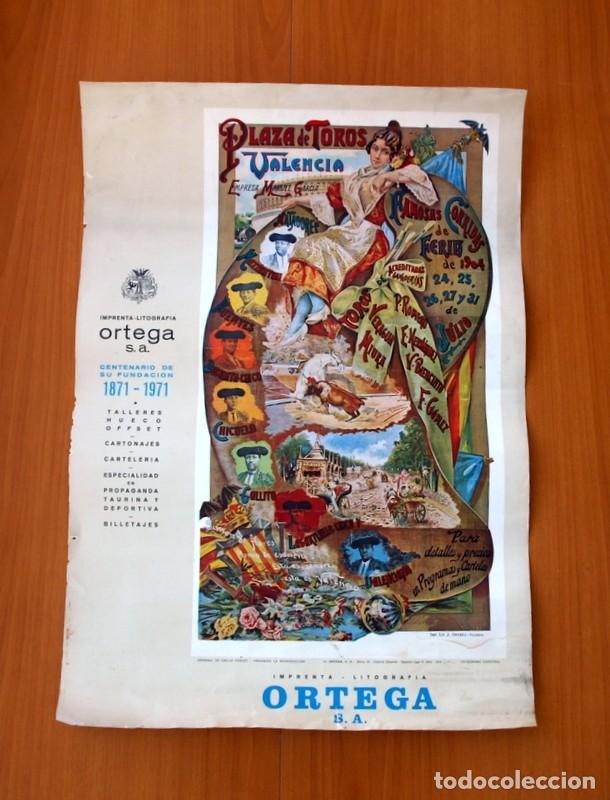 CARTEL TAURINO - LITOGRAFÍA ORTEGA - TAMAÑO 44X62 (Coleccionismo - Carteles Gran Formato - Carteles Toros)