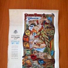 Carteles Toros: CARTEL TAURINO - LITOGRAFÍA ORTEGA - TAMAÑO 44X62. Lote 89180032