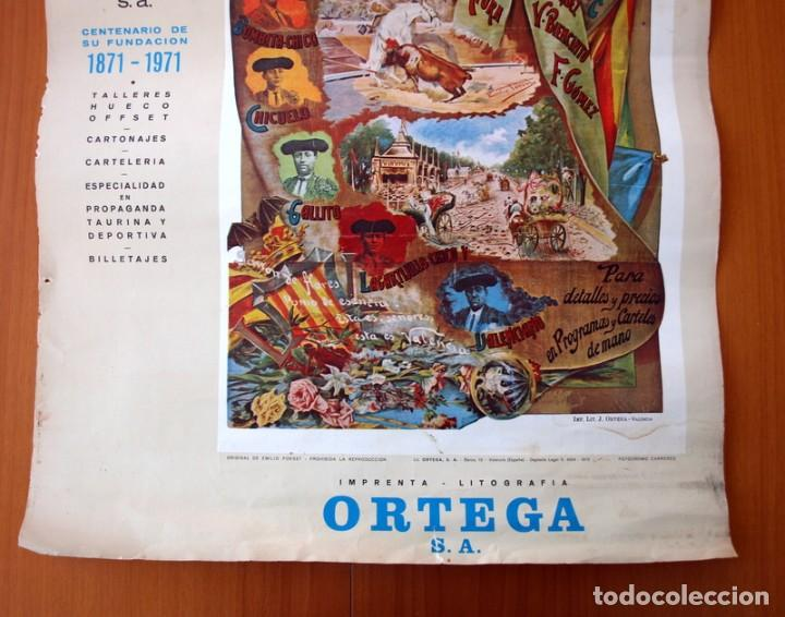 Carteles Toros: Cartel Taurino - Litografía ORTEGA - Tamaño 44x62 - Foto 3 - 89180032