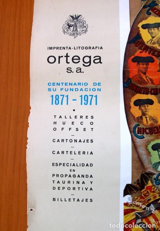 Carteles Toros: Cartel Taurino - Litografía ORTEGA - Tamaño 44x62 - Foto 4 - 89180032