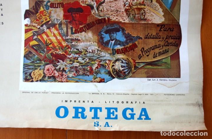 Carteles Toros: Cartel Taurino - Litografía ORTEGA - Tamaño 44x62 - Foto 5 - 89180032