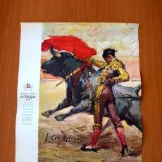 Carteles Toros: CARTEL TAURINO - LITOGRAFÍA ORTEGA - TAMAÑO 44X62. Lote 89180944