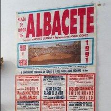 Carteles Toros: CARTEL TOROS ALBACETE FERIA 1991. Lote 89253084