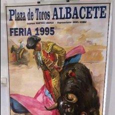 Carteles Toros: CARTEL TOROS ALBACETE FERIA 1995 TORERO ESPLA LITROGRAFICO DE ORTEGA. Lote 89285084