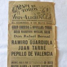 Carteles Toros: CARTEL TOROS PLAZA TOROS VISTA ALEGRE MADRID-CARABANCHEL 1948. Lote 91639290