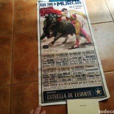 Carteles Toros: CARTEL DE LA FERIA DE TOROS DE MURCIA. SEPTIEMBRE DE 1985. YIYO, ANTOÑETE, EL SORO... MIDE 73 X 35. Lote 91716402