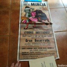 Carteles Toros: CARTEL SATÍRICO DE GRAN BECERRADA PLAZA DE TOROS DE MURCIA. 26 DE MAYO 1972. FIESTA DE LA ARRIXACA. . Lote 91716882