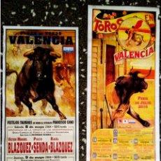 Carteles Toros: DOS CARTELES DE TOROS DE FERIA DE JULIO EN VALENCIA DE 2004 Y 2009 DE - RUANO LLOPIS -. Lote 91925780