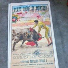 Carteles Toros: CARTEL DE TOROS PLAZA DE MONTORO OCTUBRE 1960 EL CORDOBES, ETC.. 1 METRO Y 7 CMS. ALTO X 54 LARGO . Lote 92276970
