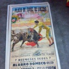 Carteles Toros: CARTEL DE TOROS PLAZA DE LUCENA ¿1959-60-61? RAFAEL ORTEGA, ETC... 1 METRO Y 7 CMS. ALTO X 54 LARGO . Lote 92277100