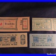 Carteles Toros: ENTRADAS TOROS PLAZA TUDELA 1903, 1919. Lote 92715750