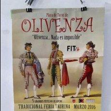 Carteles Toros: CARTEL TOROS OLIVENZA. Lote 92720410