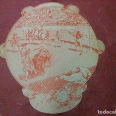 Carteles Toros: 1893 CARTEL DE TOROS TROQUELADO DE BARCELONA PANDERETA - GAVIRA GALLO GUERRITA JARANA TINOCO LEDESMA. Lote 93348900