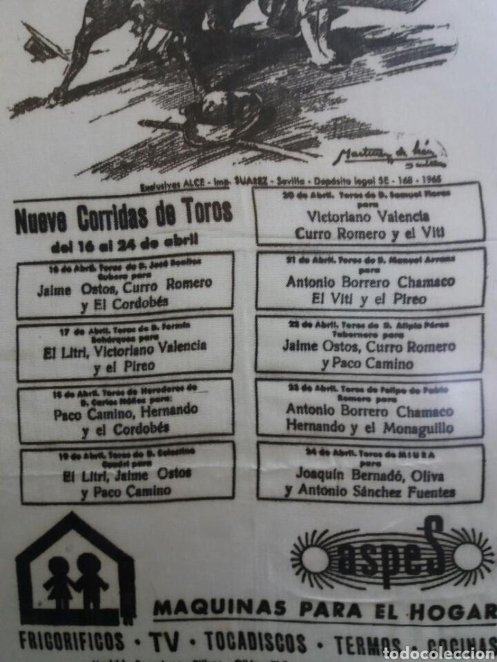 Carteles Toros: CARTEL TOROS FERIA ABRIL DE SEVILLA 1966 - Foto 3 - 93562912