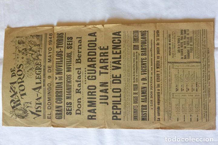 CARTEL TOROS PLAZA TOROS VISTA ALEGRE MADRID-CARABANCHEL 1948 (Coleccionismo - Carteles Gran Formato - Carteles Toros)