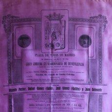 Carteles Toros: CARTEL DE TOROS DE MADRID. 3 DE MAYO DE 1914. BENEFICENCIA. GALLO, GALLITO, V. PASTOR, JUAN BELMONTE. Lote 94382182