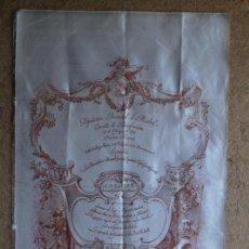 Carteles Toros: CARTEL DE TOROS DE MADRID. BENEFICENCIA, 21 DE MAYO DE 1893. MAZZANTINI, EL ESPARTERO Y GUERRITA. Lote 94382258