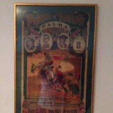 Carteles Toros: ANTIGÜO Y MUY BONITO CARTEL DE TOROS ENMARCADO. Lote 95195639
