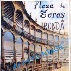 Carteles Toros: RONDA, 1985, CARTEL ORIGINAL SEGUNDO CENTENARIO PLAZA DE TOROS, 1785-1985, 40X64CMS. Lote 95519891