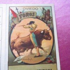 Carteles Toros: CARTEL CORRIDA A BENEFICIO HUERFANOS FERROVIARIOS PLAZA DE TOROS OVIEDO 1931.. Lote 95739007