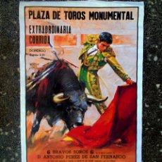 Carteles Toros: CARTEL DE PLAZA DE TOROS MONUMENTAL AÑOS 80 .DIBUJANTE BALLESTAR. JOSE TOMAS, JOSÈ Mª MANZANARES,. Lote 95808683