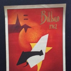 Carteles Toros: CARTEL DE TOROS BILBAO 1962. Lote 96912503