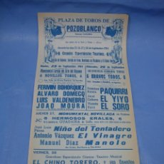 Carteles Toros: CARTEL PLAZA DE TOROS DE POZOBLANCO. MUERTE DE PAQUIRRI. Lote 98610711