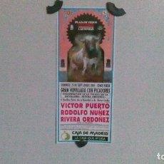 Carteles Toros: CARTEL DE TOROS DE MADRID AÑO 1994, NOVILLADA DEL AÑO 1994, PRESENTACIÓN DE RIVERA ORDÓÑEZ CON PICAD. Lote 99394371