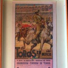 Carteles Toros: CARTEL DE TOROS -MURCIA 1.928 ROBERTO DOMINGO. Lote 99633667