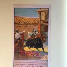 Carteles Toros: CARTEL DE TOROS -MURCIA 1.931 ROBERTO DOMINGO. Lote 99634275