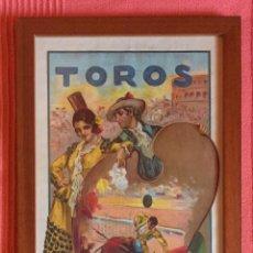 Carteles Toros: CARTEL DE TOROS- MURCIA 1.928 RUANO LLOPIS- ENMARCADO. Lote 99639939