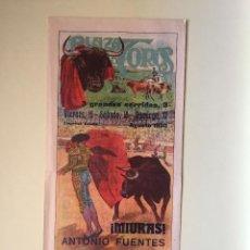 Carteles Toros: CARTEL DE TOROS- 1.930 MONUMENTAL- LAS ARENAS. Lote 99646383