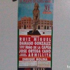 Carteles Toros: CARTEL DE LA PLAZA DE TOROS DEL PUERTO DEL AÑO 1995, FESTIVAL EL 31 DE MARZO. Lote 99811395
