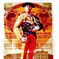 Carteles Toros: CARTEL TOROS CHAPA I CENTENARIO DE LA PLAZA DE TOROS EL PUERTO DE SANTA MARIA (1100 EJEMPLARES). Lote 99844143