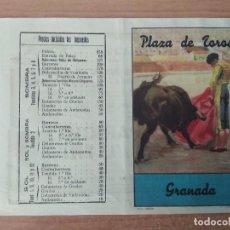Carteles Toros: CARTEL 27X22 CTM DE UNA NOVILLADA 1950. JULIO APARICIO Y MIGUEL BAEZ LITRI. Lote 99971475