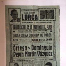 Carteles Toros: LORCA- CARTEL DE TOROS 1.945. Lote 99923163