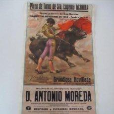 Carteles Toros: CARTEL TAURINO - PLAZA DE TOROS DE STA EUGÈNIA GERONA (GIRONA) - IMP FRANQUET - AÑO 1960. Lote 100616355