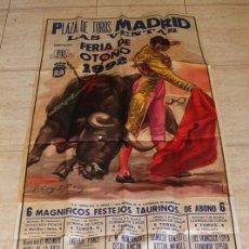Carteles Toros: CARTEL DE TOROS DE MADRID. FERIA DE OTOÑO DE 1992. ENRIQUE PONCE, JOSÉ M. MANZANARES, CÉSAR RINCÓN. Lote 101380467