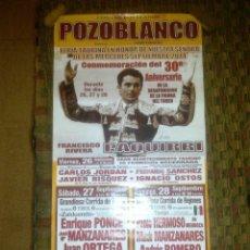 Carteles Toros: COSO DE LOS LLANOS. POZOBLANCO.. Lote 101708811