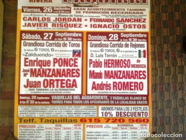 Carteles Toros: COSO DE LOS LLANOS. POZOBLANCO. - Foto 4 - 101708811