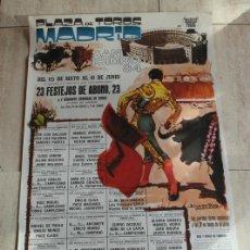 Affissi Tauromachia: CARTEL DE TOROS DE MADRID. SAN ISIDRO 1984. DEL 15 DE MAYO AL 6 DE JUNIO. YIYO OJEDA RAFAEL DE PAUL. Lote 102011319