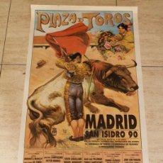 Carteles Toros: CARTEL DE TOROS DE MADRID. SAN ISIDRO 1990. DEL 10 DE MAYO AL 4 DE JUNIO. CURRO VÁZQUEZ, JULIO ROBLE. Lote 122782582
